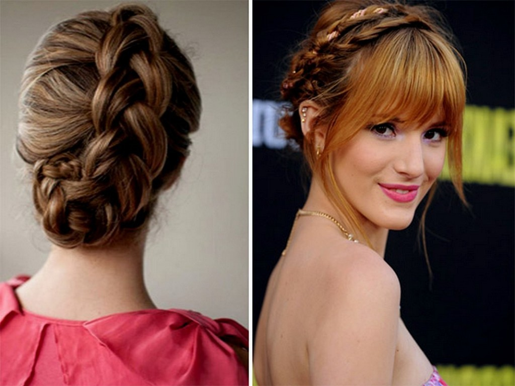 Astounding Braid Hairstyles With Fringe Braids Short Hairstyles Gunalazisus