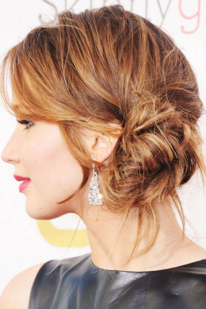 Tremendous 22 Bun Hairstyle Ideas For Girls With Bangs Hairstyles For Woman Hairstyle Inspiration Daily Dogsangcom