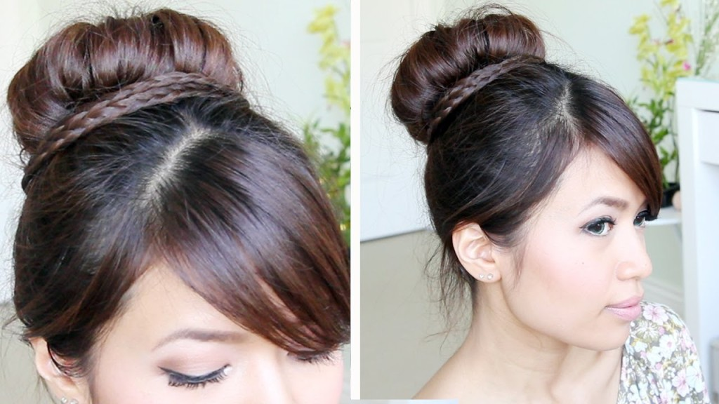Peachy 22 Bun Hairstyle Ideas For Girls With Bangs Hairstyles For Woman Short Hairstyles Gunalazisus