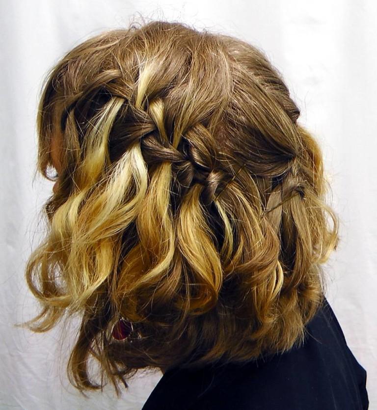 Фото косы на короткий волос