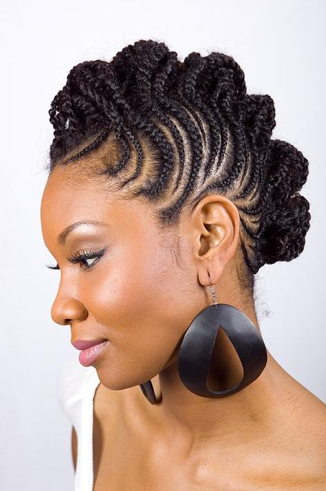 Short natural hairstyles for black women with round faces Photo - 1