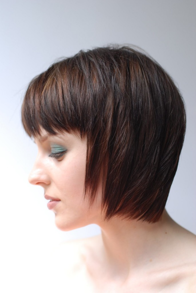 short hairstyles with bangs - 12