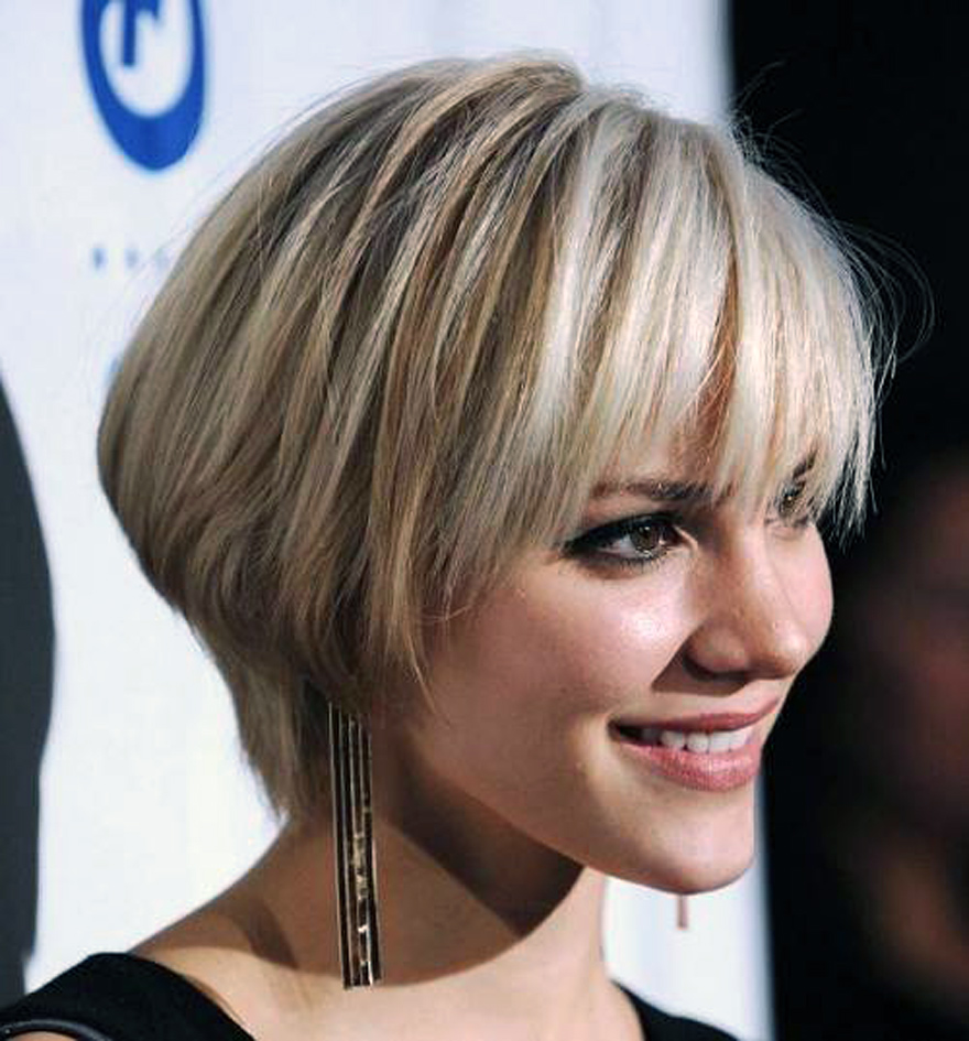 short hairstyles with bangs - 18