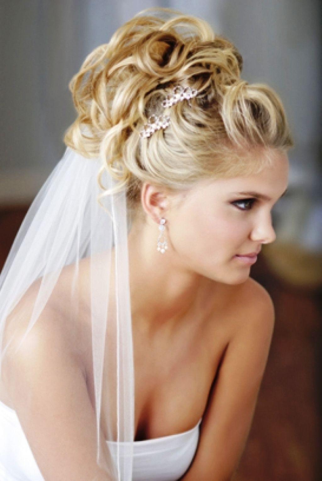 прически на свадьбу длинные волосы фото с фатой