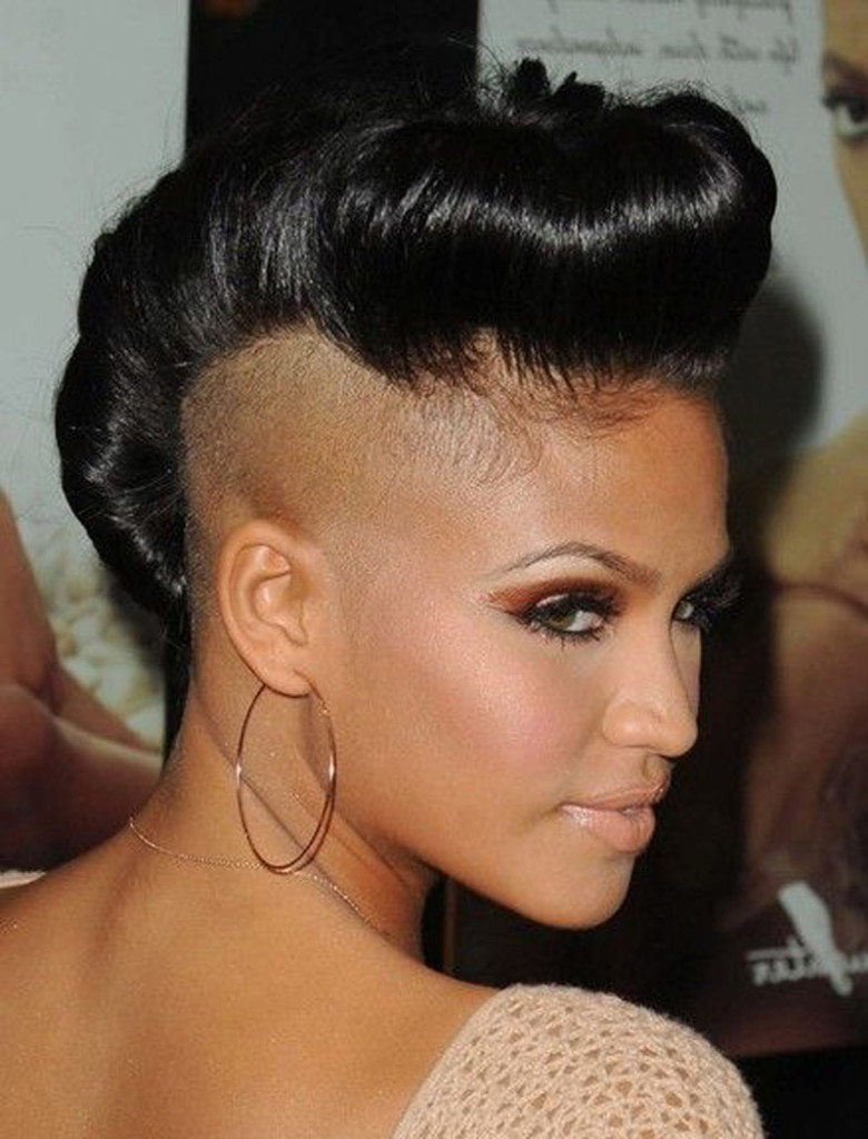 Top Most Badass Shaved Hairstyles For Black Women S - Girl hairstyle half shaved