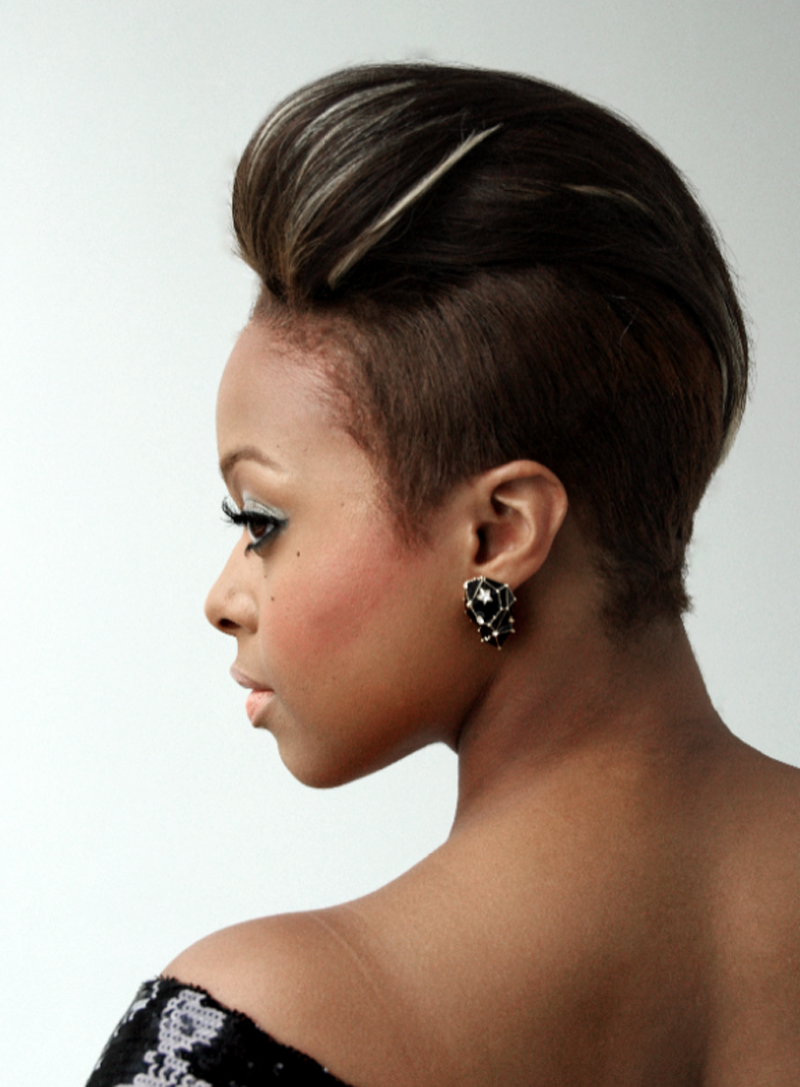 top 15 most badass shaved hairstyles for black women 2017's