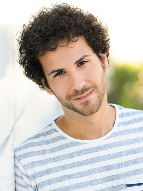 Sexy curly hairstyles for men 8