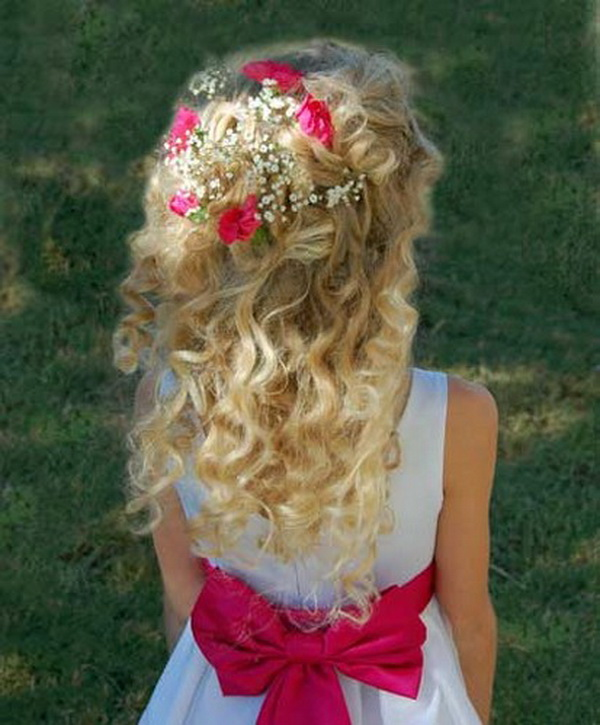 Simple yet stunning creative flower girl hairstyles 6