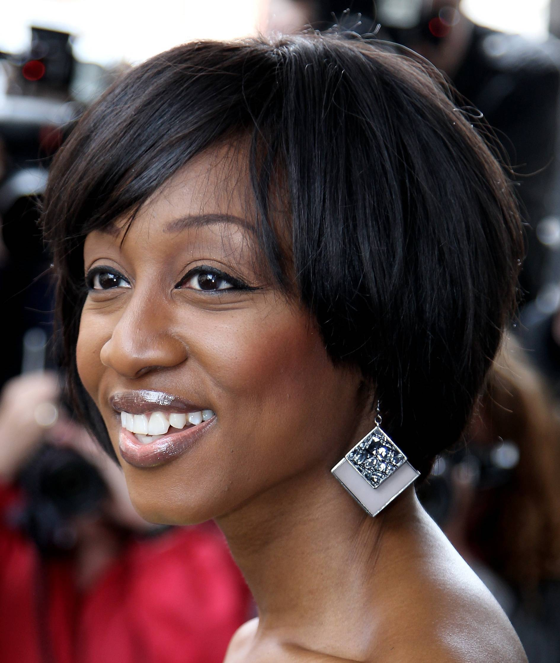 Captivating African American Short Hairstyle With Bangs