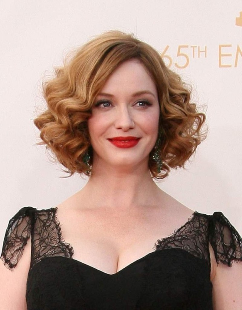 best hairstyles for thin curly hair - 14