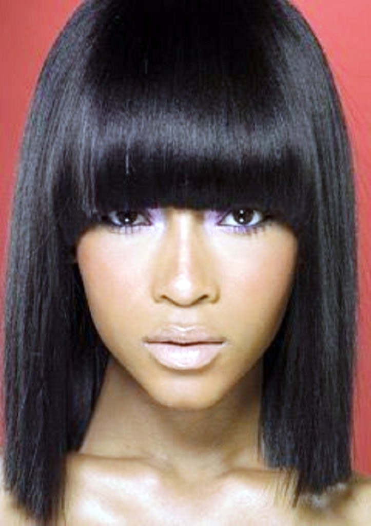 black hairstyles with chinese bangs - 12