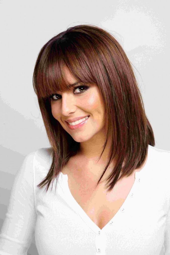 brunette hairstyles with bangs photo - 11