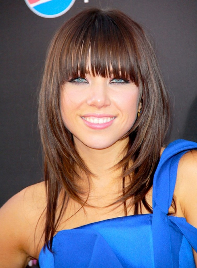celebrity hairstyles with bangs - 15