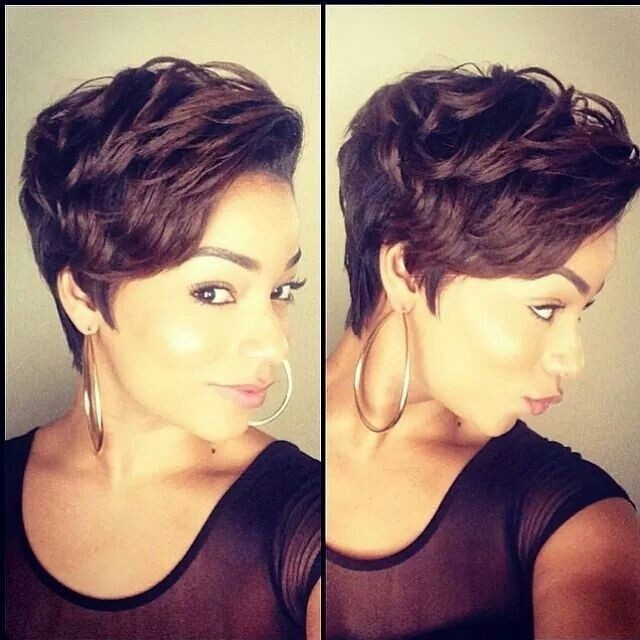 Excellent 32 Most Cute Short Hairstyles For Black Women Hairstyles For Woman Hairstyles For Men Maxibearus