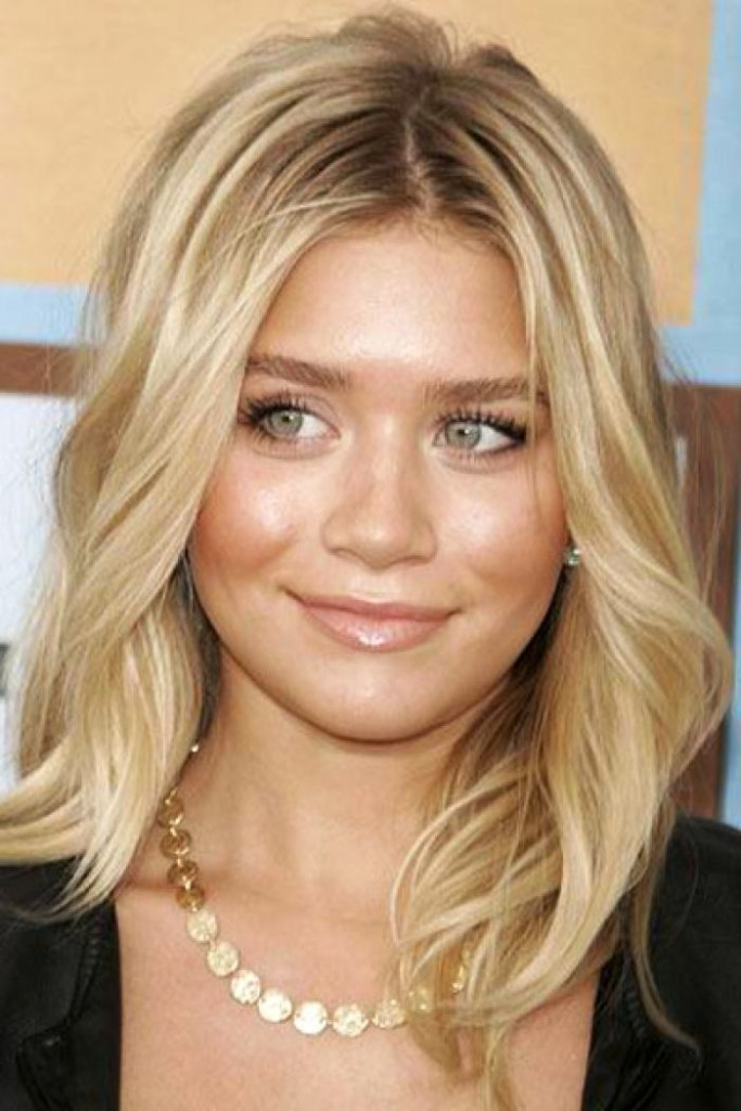 medium hairstyles with bangs for round faces - 24