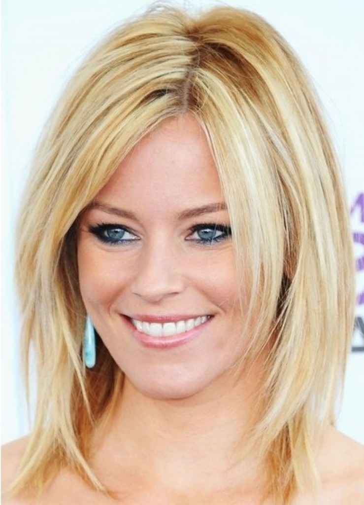 medium straight hairstyles with bangs - 15