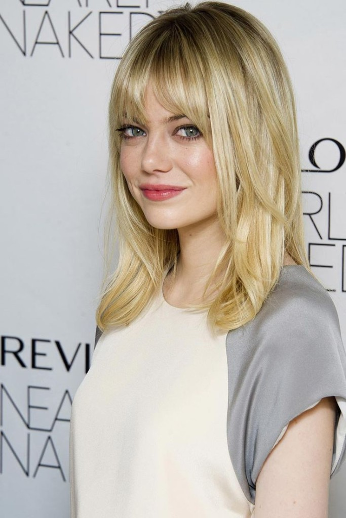 medium straight hairstyles with bangs - 24