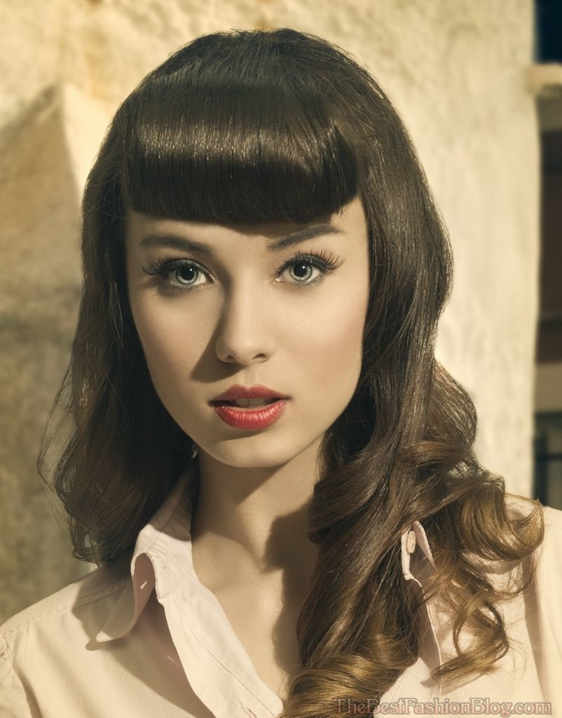 Fantastic Top 12 Retro Hairstyles With Bangs Back With A Bang Hairstyles Short Hairstyles Gunalazisus