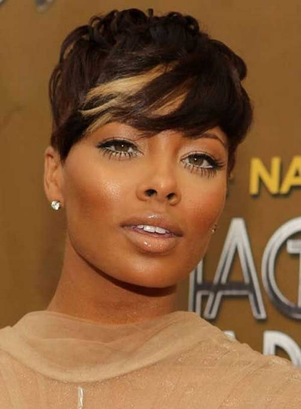 Astounding Top 14 Cute Short Hairstyles With Bangs For Black Women Short Hairstyles For Black Women Fulllsitofus