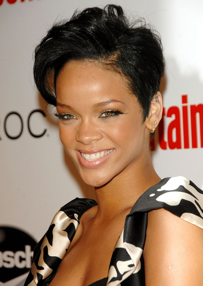 Superb Top 14 Cute Short Hairstyles With Bangs For Black Women Hairstyles For Men Maxibearus