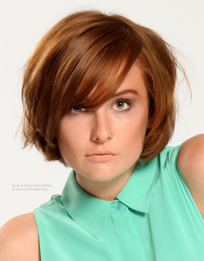 Enjoyable Top 16 Best Short Hairstyles With Bangs For Round Faces Short Hairstyles Gunalazisus
