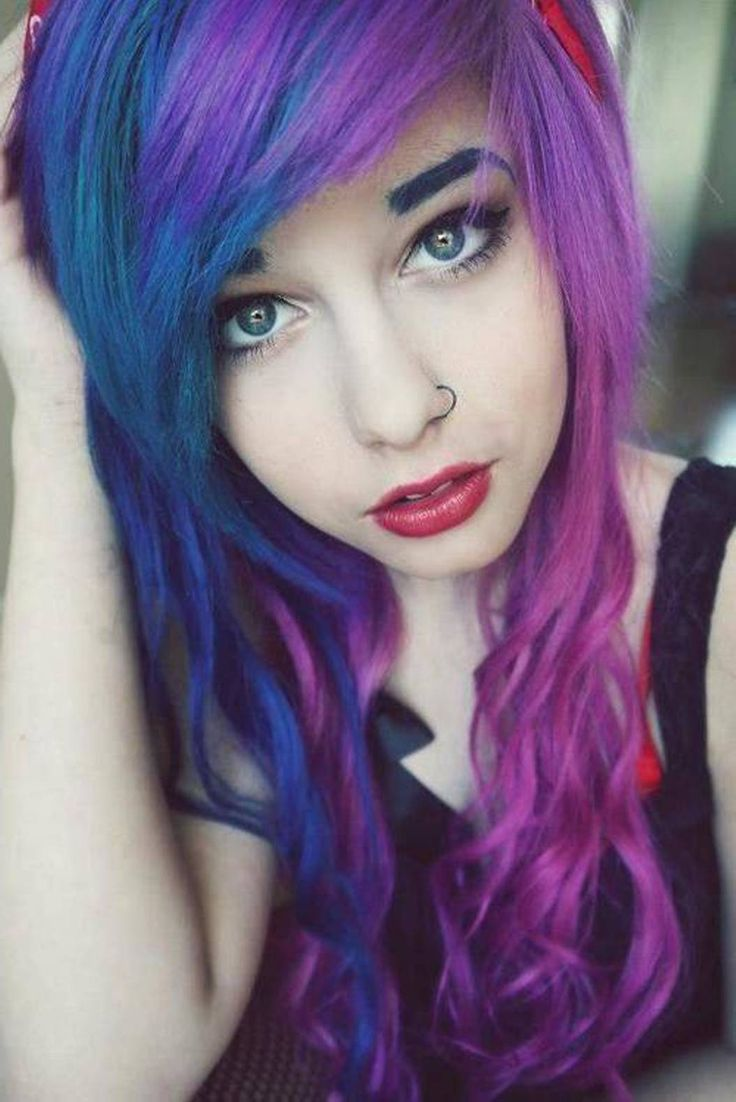 purple hair style purple hair for 35 excessively radical touches 2569
