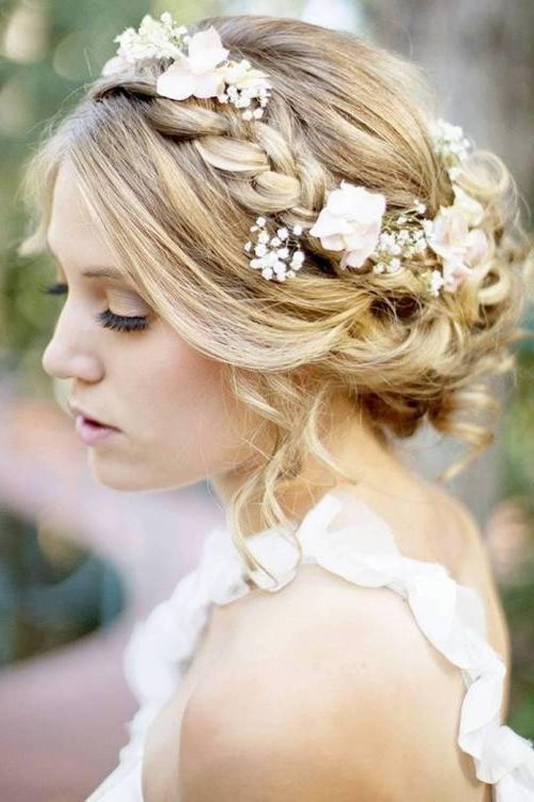 Bride Hairstyles With Veil And Flower. Bride. Get Free Printable ...