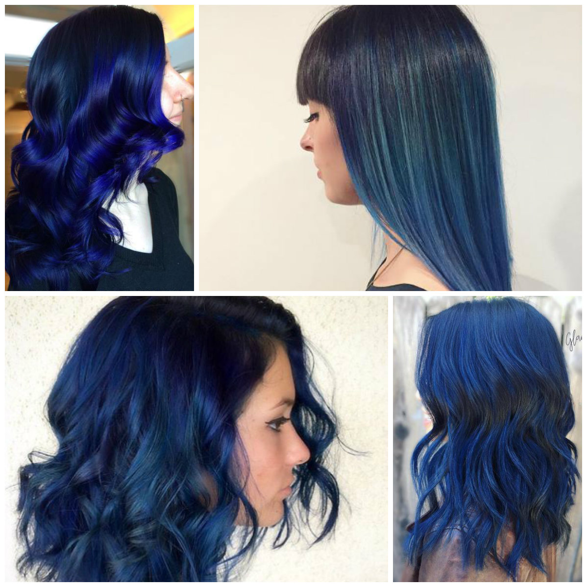 Win Your Hairs Adorning Stares By Coloring Them Blue Hairstyles