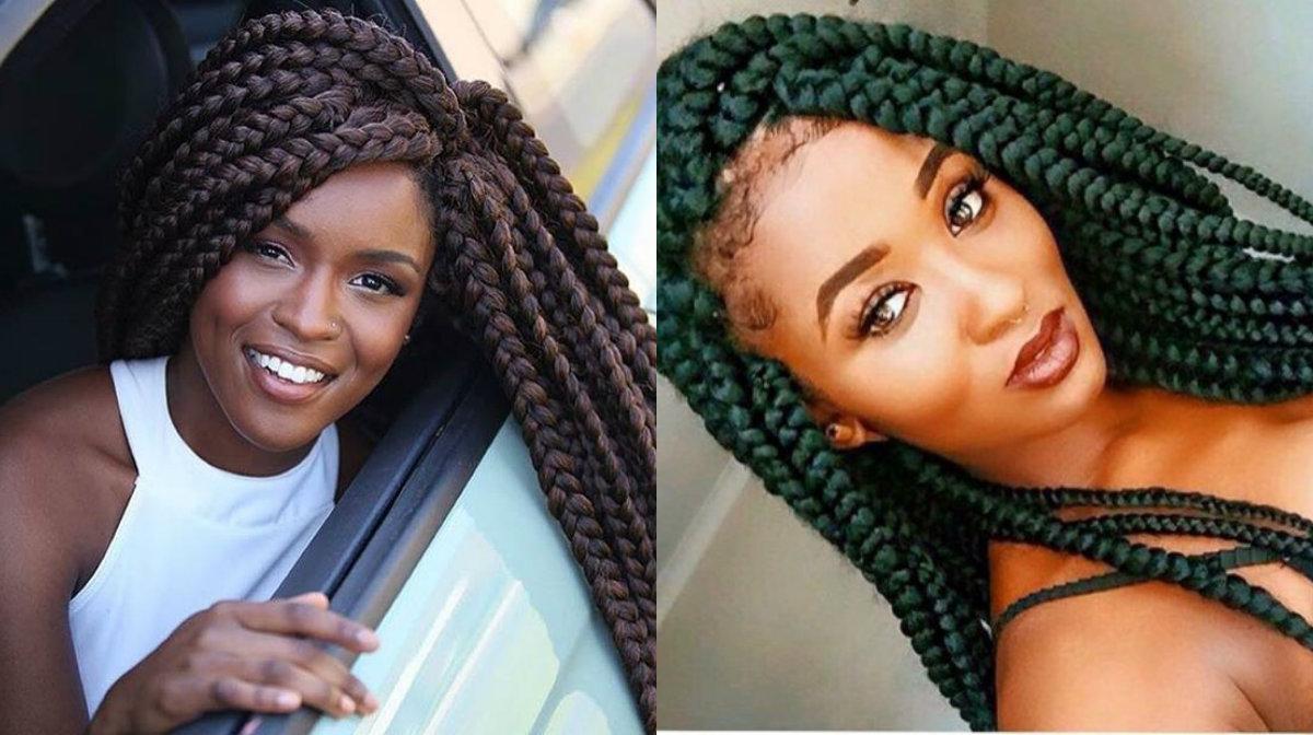 Jumbo Box Braids Amazing Long Term Protective Style Hairstyles