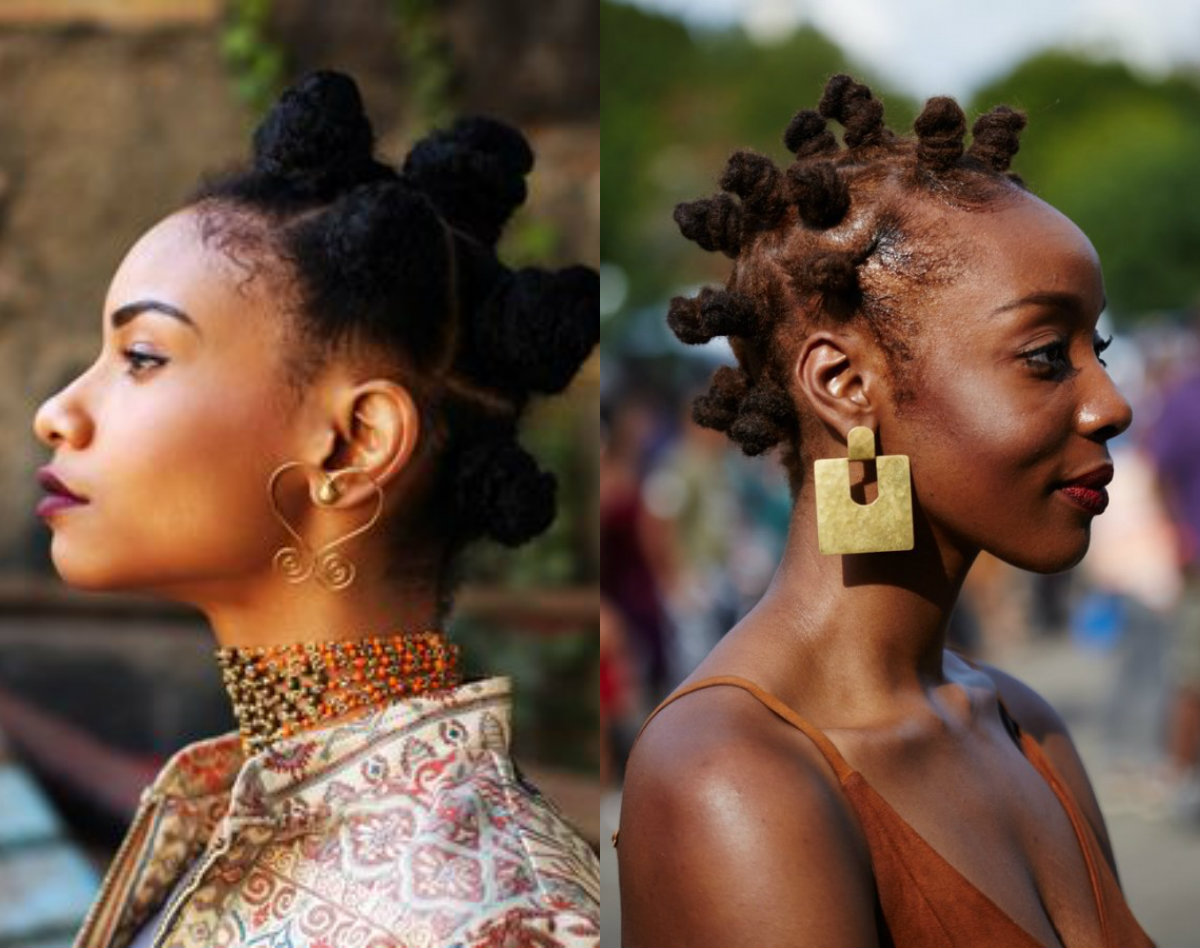 Bantu Knots On African Natural Hair