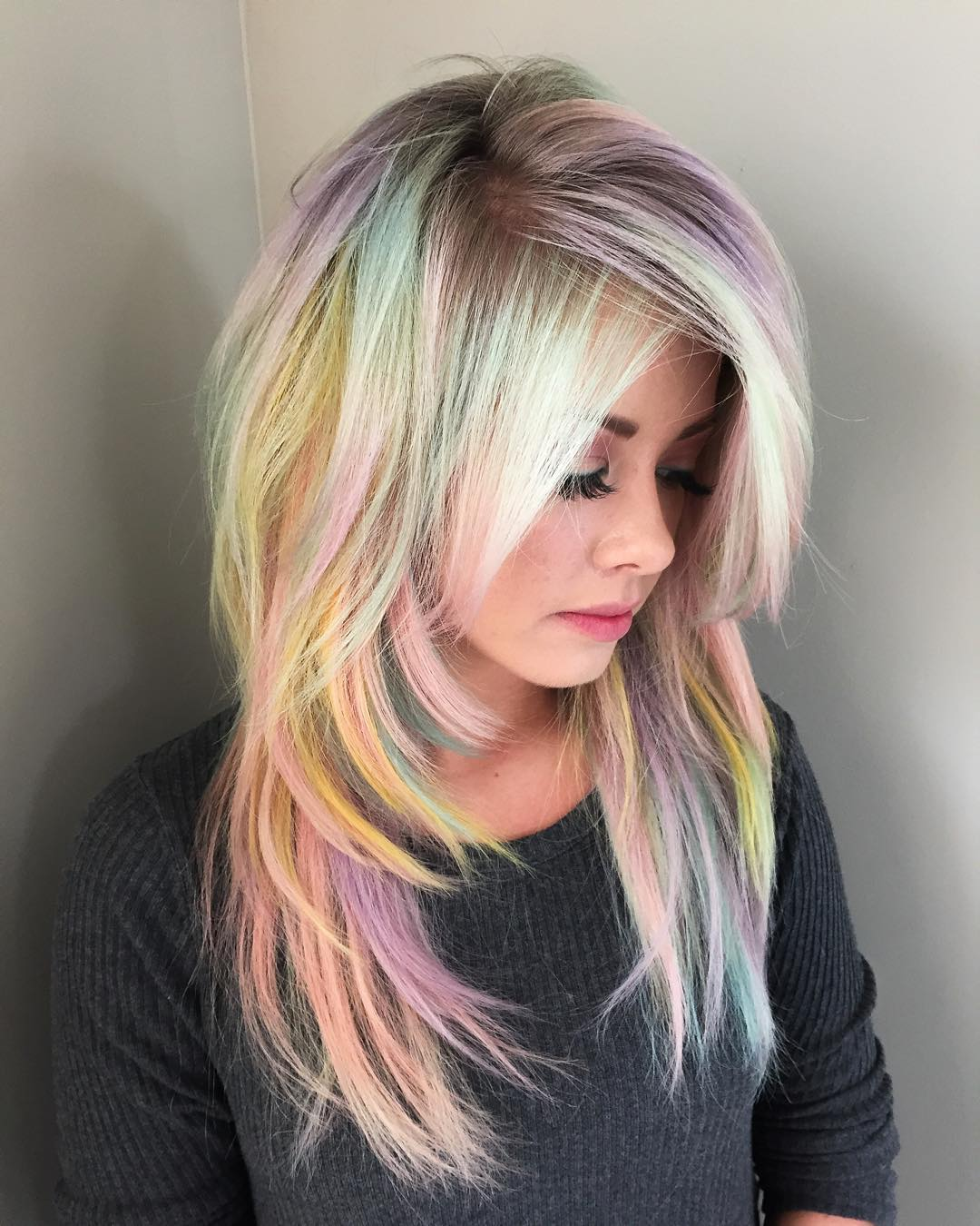 Rainbow hair – be like a rainbow! 28 reasons to live in