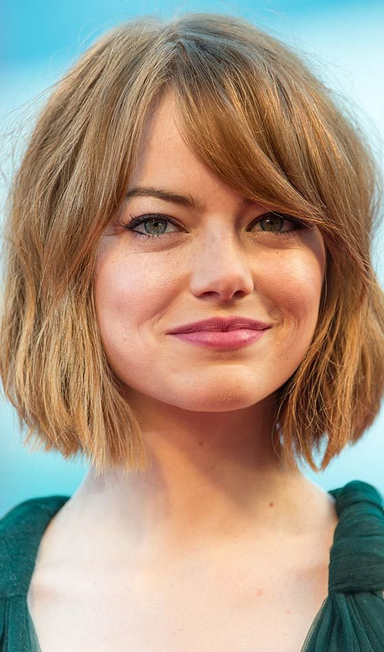 Top 34 Best Short Hairstyles With Bangs For Round Faces Woman