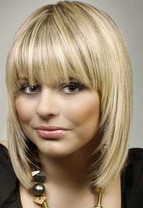 Top 34 Best Short Hairstyles With Bangs For Round Faces ...