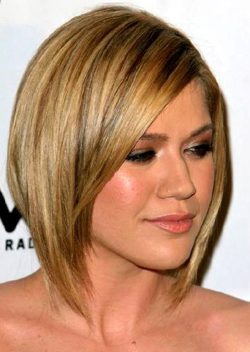 a line hairstyles with bangs photo - 10