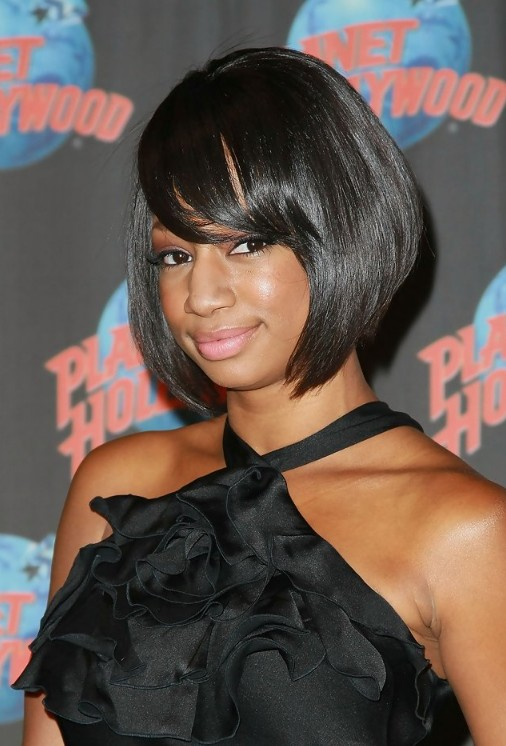 african american short hairstyles with bangs photo - 1