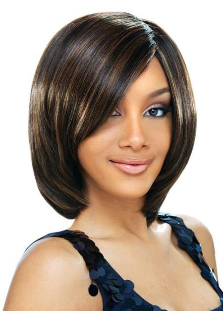 african american short hairstyles with bangs photo - 7