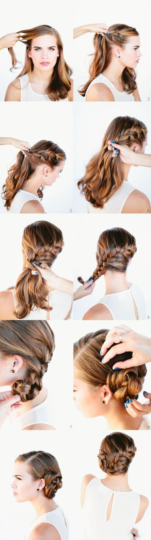 braid hairstyles with bangs photo - 7