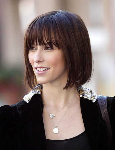 brunette hairstyles with bangs photo - 9