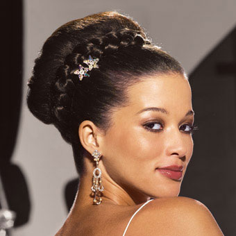 bun hairstyles with bangs photo - 5