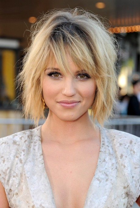 celebrity hairstyles with bangs photo - 2