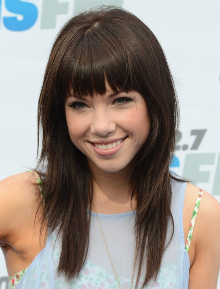 celebrity hairstyles with bangs photo - 7