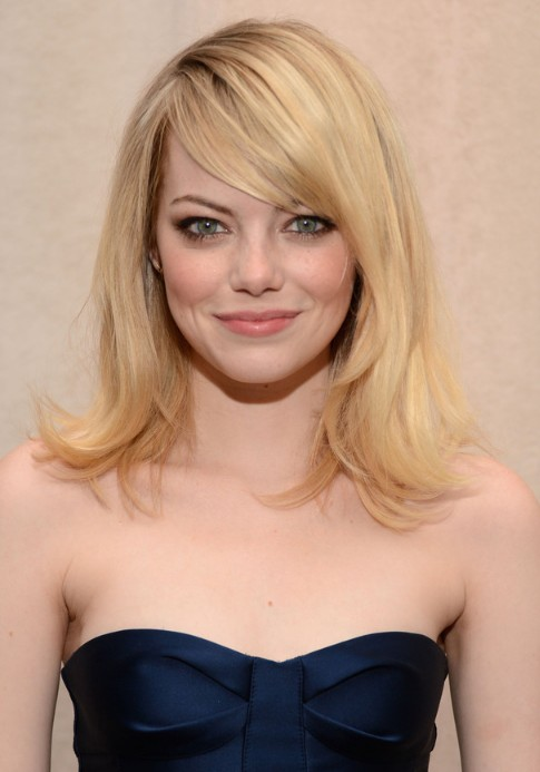 emma stone hairstyles with bangs photo - 2
