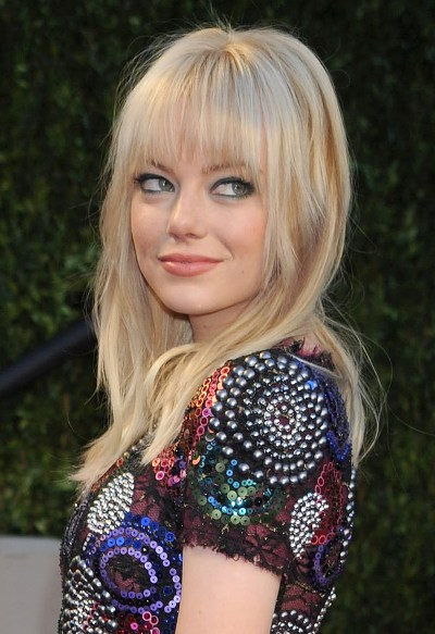 emma stone hairstyles with bangs photo - 7