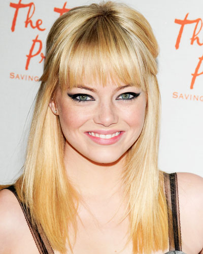 emma stone hairstyles with bangs photo - 8