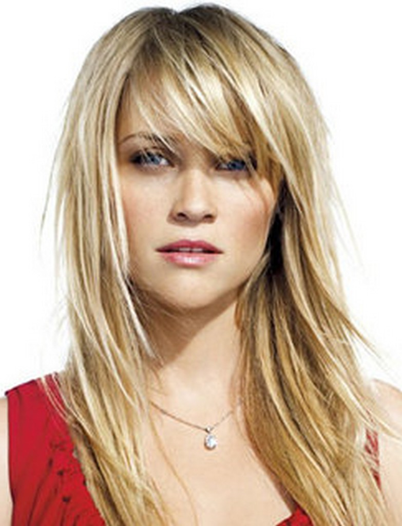 hairstyles for long hair with bangs photo - 6