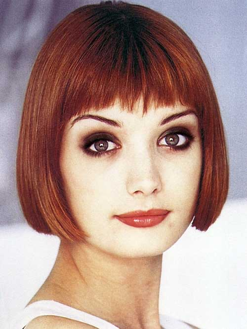 hairstyles for older women with bangs photo - 9