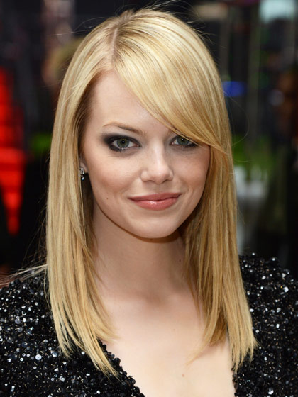 hairstyles for oval faces with bangs photo - 1