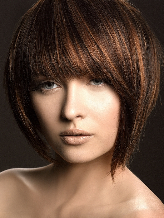 hairstyles for oval faces with bangs photo - 9