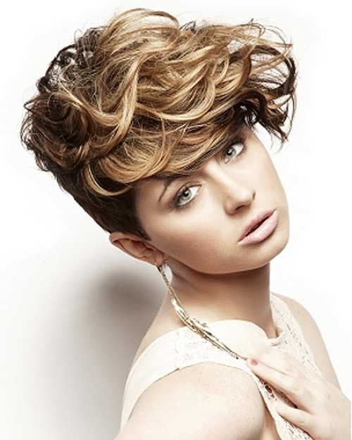 hairstyles for short curly hair with bangs photo - 3