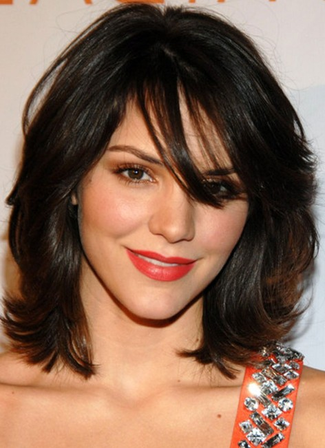 hairstyles for straight hair with bangs photo - 7